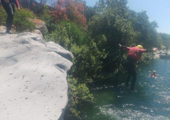 Canyoning in the Alcantara river, near Taormina